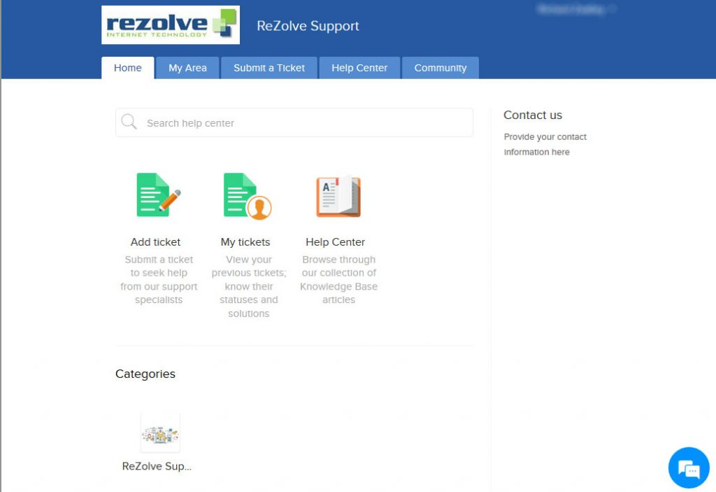 ReZolve support helpdesk