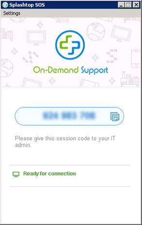 Remote support PIN
